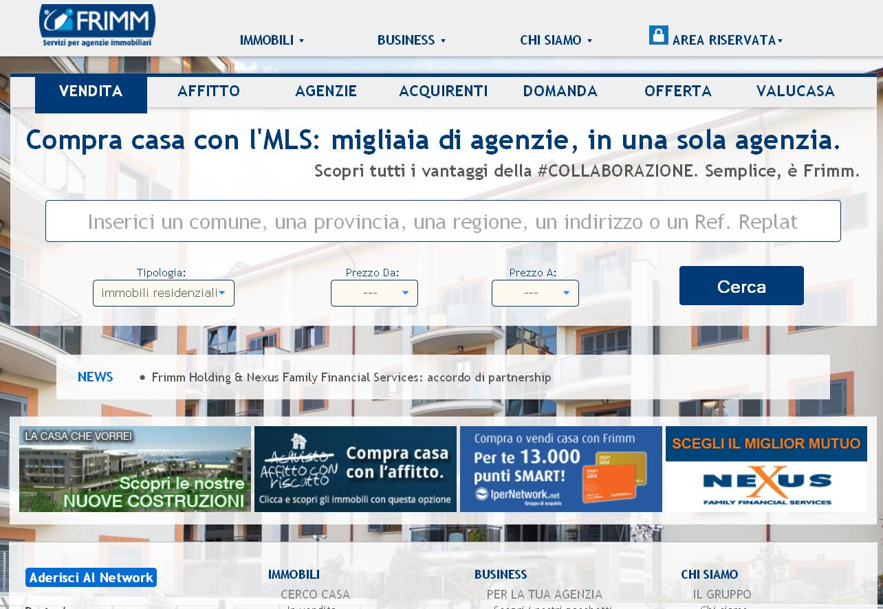 Servizi Per Agenti Immobiliari frimm ha una nuova casa! da oggi online il nuovo sito frimm