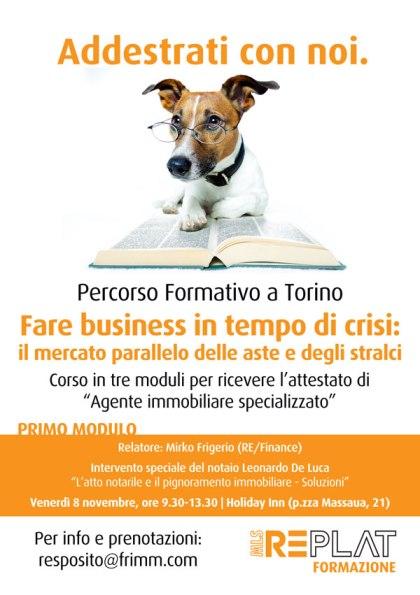 Percorso di formazione per agenti immobiliari su aste e stralci a Torino