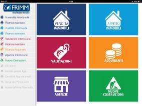Frimm App per agenti immobiliari - Menù