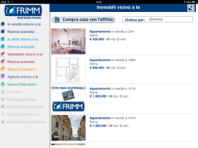 Frimm App per agenti immobiliari - Ricerca appartamenti