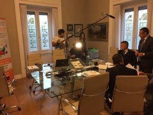 """Frimm su La7, martedì 20 ottobre 2015 ospite del programma """"diMartedì"""" di Giovanni Floris"""