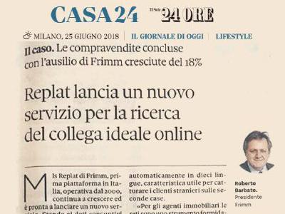 """REplat è il """"caso"""" del Sole 24Ore: compravendite in crescita, tecnologia all'avanguardia"""