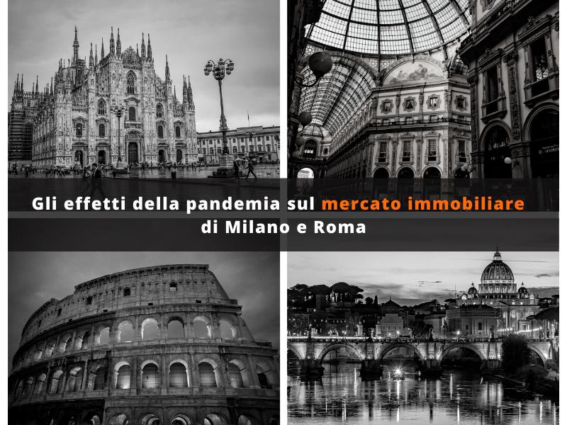 Il mercato immobiliare milanese mostra una buona tenuta nonostante la pandemia da coronavirus. Prezzi in calo a Roma.